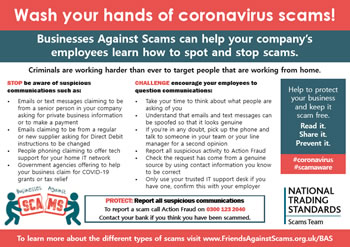 Businesses Against Scams Postcard