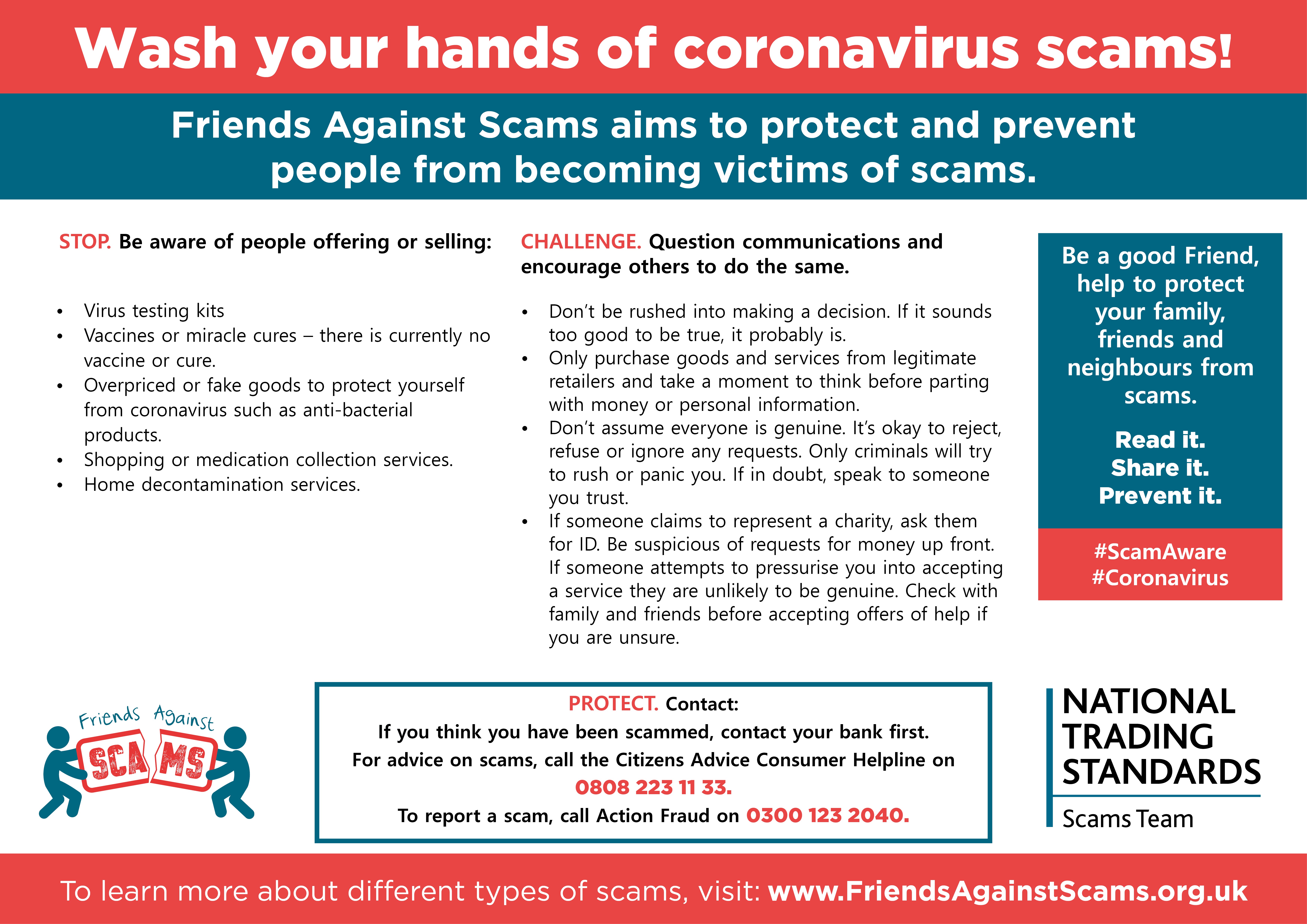 Friends Against Scams National Trading Standards Nts Scams Team Initiative Protecting And Preventing People From Becoming Victims Of Scams